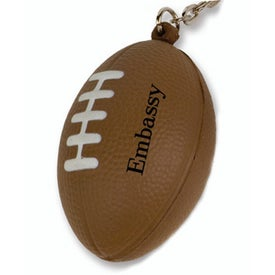 Monogrammed Mini Football Stress Reliever Key Tag