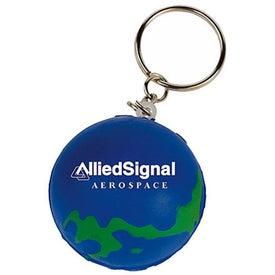 Mini Globe Stress Reliever Key Tag
