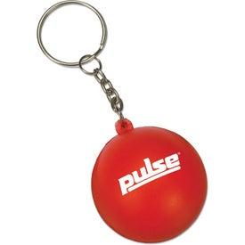 Monogrammed Mini Round Ball Stress Reliever Key Tag