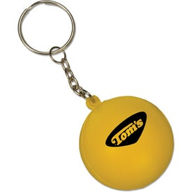 Mini Round Ball Stress Reliever Key Tag for Your Church