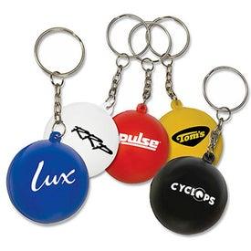 Mini Round Ball Stress Reliever Key Tag
