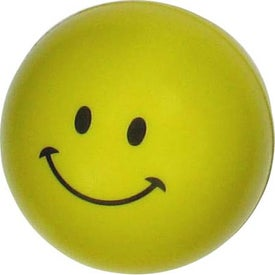 Personalized Mini Smiley Face Stress Reliever