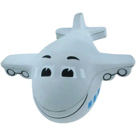 Imprinted Mini Airplane Stress Reliever with Sound