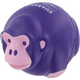 Monkey Ball Stress Ball with Your Slogan