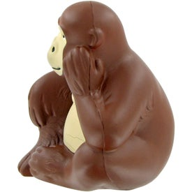 Printed Monkey Stress Toy
