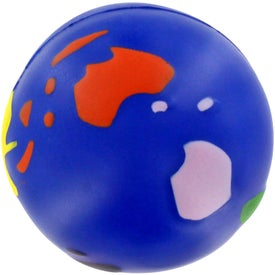 Multicolored Earthball Stress Ball Branded with Your Logo