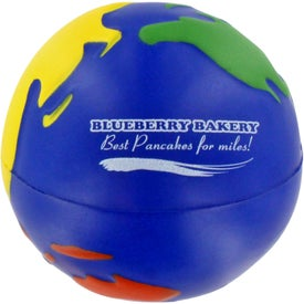 Advertising Multicolored Earthball Stress Ball