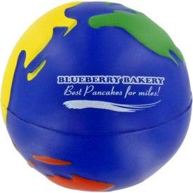 Advertising Multicolored Earthball Stress Ball