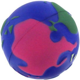 Imprinted Multi Colored Earth Stress Reliever