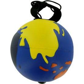 Multicolored Earthball Yo Yo Stress Ball