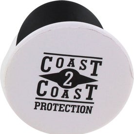 Imprinted Navy Officer Mad Cap Stress Ball