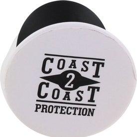 Imprinted Navy Officer Mad Cap Stress Ball