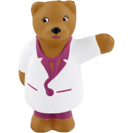 Nurse Bear Stress Ball for Your Company