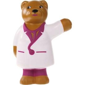 Monogrammed Nurse Bear Stress Ball