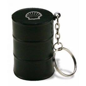 Oil Drum Key Chain Stress Ball
