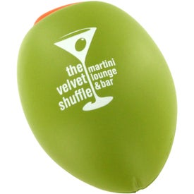 Olive Stress Ball with Your Slogan