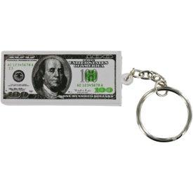 Advertising $100 Bill Stress Ball Key Chain