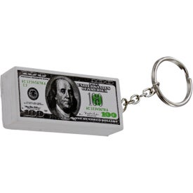 Branded $100 Bill Stress Ball Key Chain
