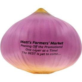 Monogrammed Onion Stress Ball