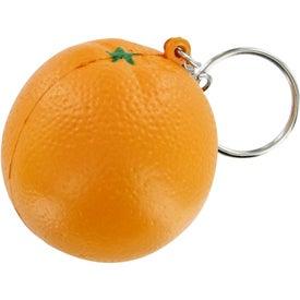 Advertising Orange Keychain Stress Toy