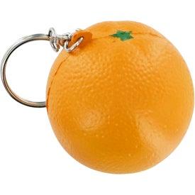 Orange Keychain Stress Toy with Your Slogan