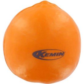 Tangerine Stress Reliever with Your Slogan