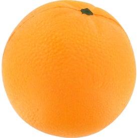 Monogrammed Orange Stress Reliever