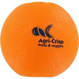 Orange Fruit Stress Ball for Advertising