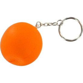 Customized Orange Stress Ball Key Chain