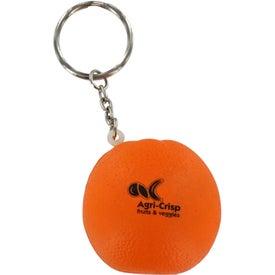 Printed Orange Stress Ball Key Chain