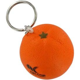 Logo Orange Stress Ball Key Chain