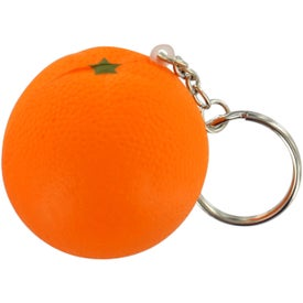 Orange Stress Ball Key Chain