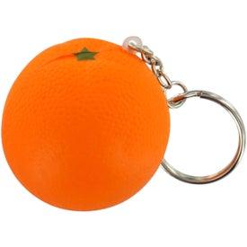 Orange Stress Ball Key Chain