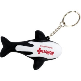 Orca Whale Stress Reliever Key Ring for your School