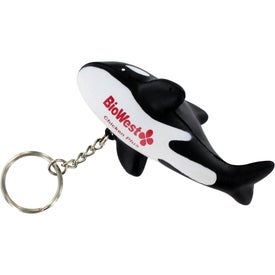 Monogrammed Orca Whale Stress Reliever Key Ring