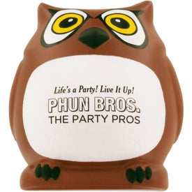 Customized Owl Stress Ball