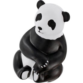 Imprinted Sitting Panda Stress Ball