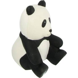 Sitting Panda Stress Ball with Your Logo