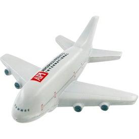 Imprinted Passenger Airplane Stress Toy