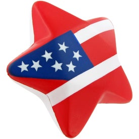Patriotic Design Star Stress Toy Printed with Your Logo