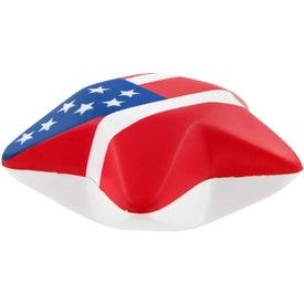 Monogrammed Patriotic Design Star Stress Toy
