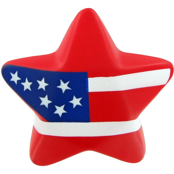 See Item Patriotic Design Star Stress Toy