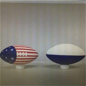 Monogrammed Patriotic Football Stress Toy