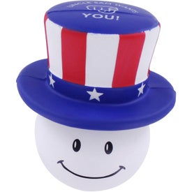 Monogrammed Patriotic Mad Cap Stress Ball