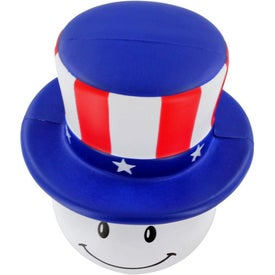 Patriotic Mad Cap Stress Ball with Your Slogan