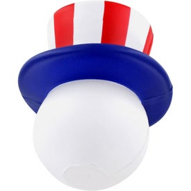 Patriotic Mad Cap Stress Ball Branded with Your Logo