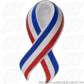 Patriotic Ribbon Stress Ball Imprinted with Your Logo