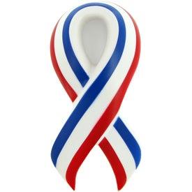 Printed Patriotic Ribbon Stress Toy