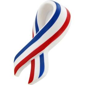 Logo Patriotic Ribbon Stress Toy