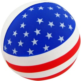 Imprinted Patriotic Round Ball Stress Toy